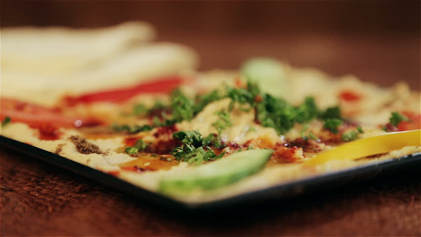 The traditional food of the middle east hummus for Second cuisine