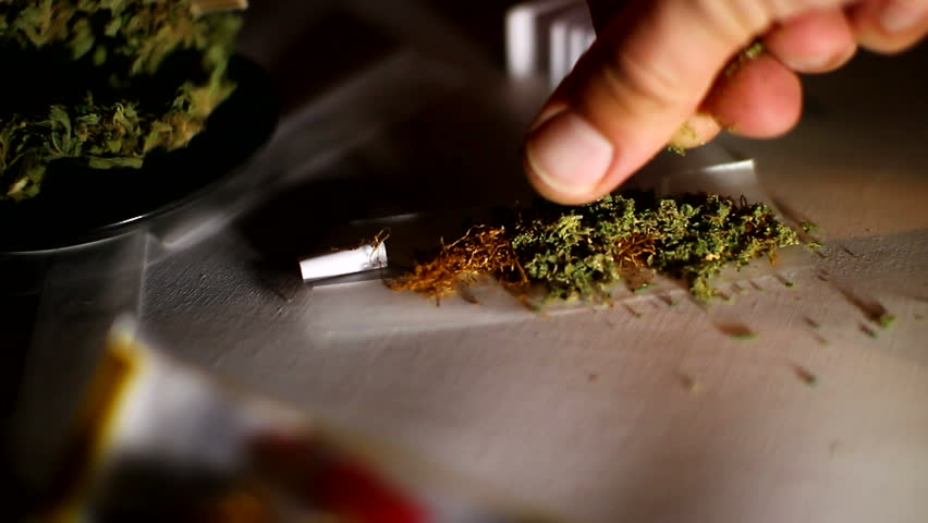 rolling a marijuana cigarette or joint