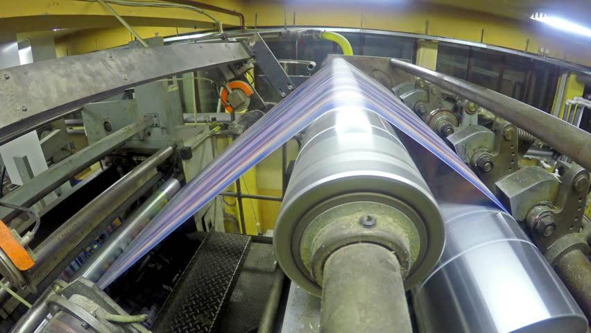 4K Printing Roll paper newspaper in offset machine. UHD stock video LOOP   Shutterstock HD Video #9417710
