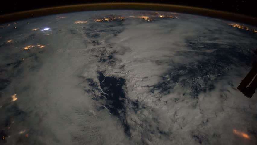 Amazing views of our home planet Earth seen from the International Space Station ISS, awesome panoramic from outer space research. Elements of this image furnished by NASA in January 2015.