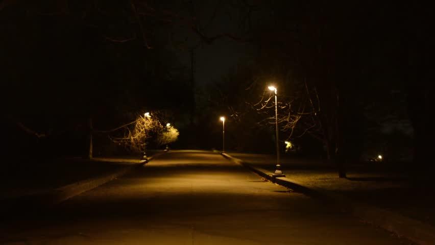night park - nobody - lamps
