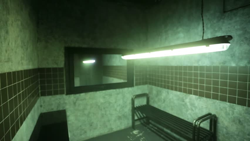 View of interrogation room.