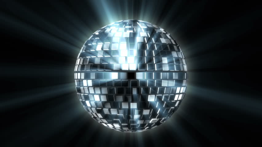 disco ball spinning on isolated background hd stock