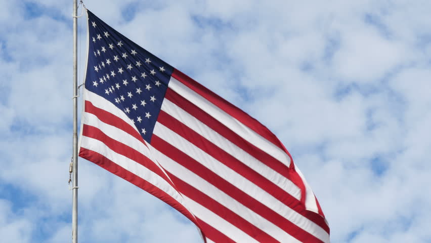 US flag 4k - 4K stock video clip