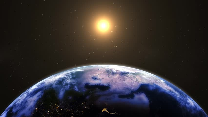 Lights on Earth. Elements of this image furnished by NASA - HD stock footage clip