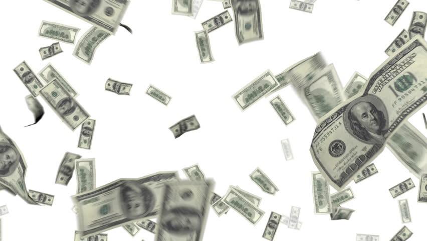 dollar bills falling on - photo #49