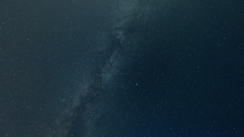 Time lapse of Perseids meteor shower shooting stars and Milky Way in a blue night sky with moonlight and clouds.  Because this is a time lapse sequence it can be used at any frame rate without issue.