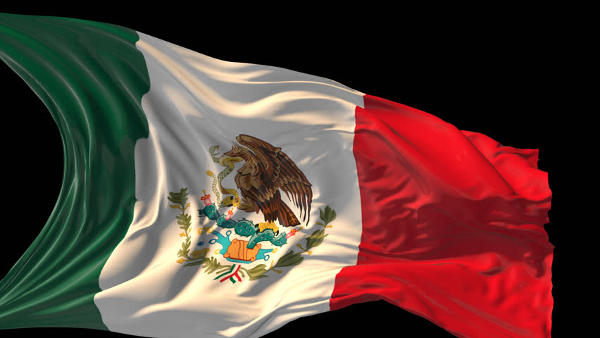 Flag Of Mexico Beautiful 3d Animation Of The Mexico Flag In Loop ...