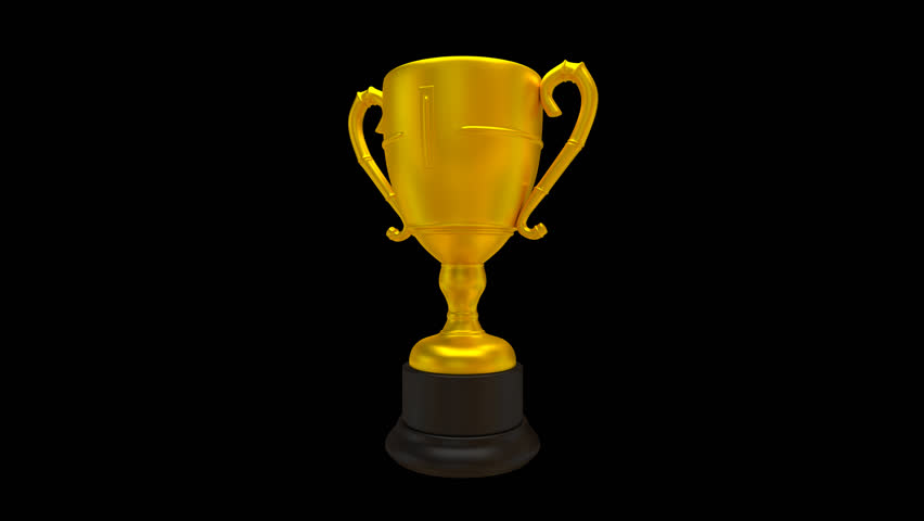 Animated Trophy 3D Chroma Key . Golden Trophy Cup With ...