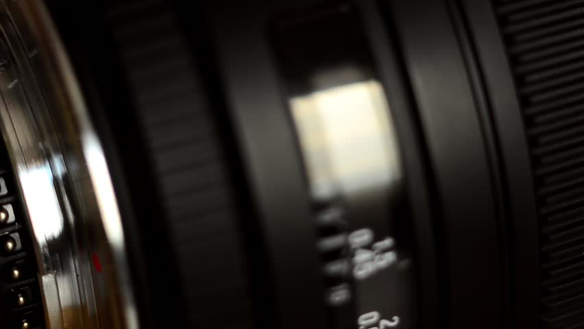 Detail of Camera lens  | Shutterstock HD Video #9643880