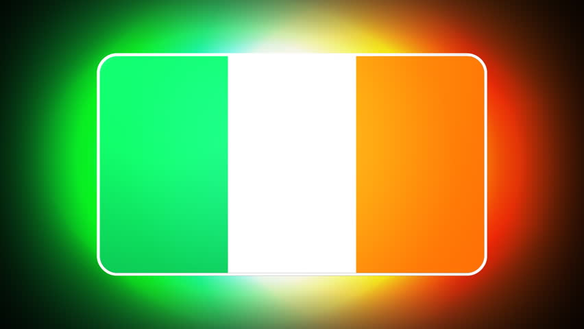 Irish 3D flag - HD loop