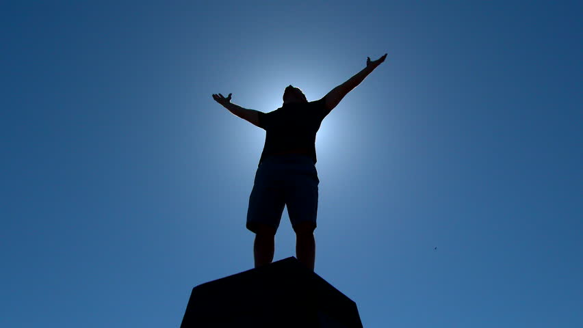 Victory Pose By Man On...