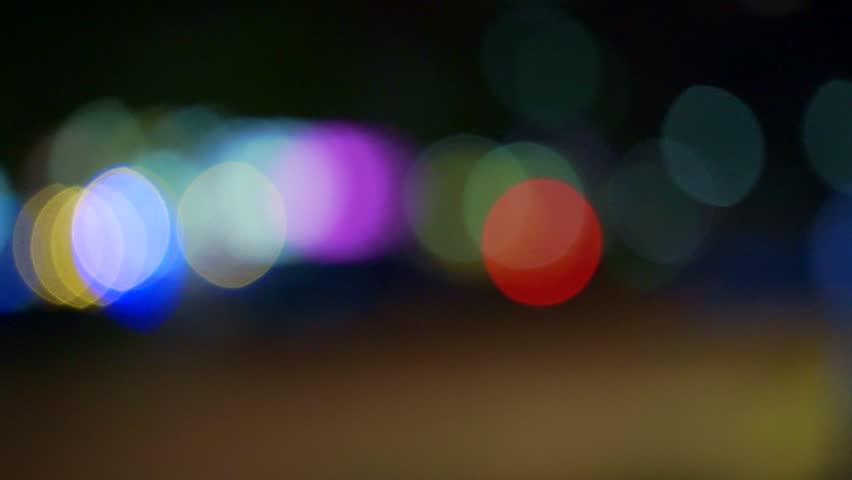 Blurred Colorful out of focus City Lights  - HD stock footage clip