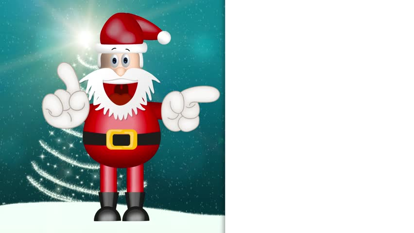 Funny Santa Claus xmas christmas illustration cartoon | Shutterstock HD Video #9752960