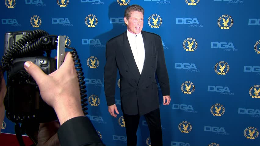 Hollywood, CA - February 02,2013: David Hasselhoff at DGA Awards 2013, The Ray Dolby Ballroom