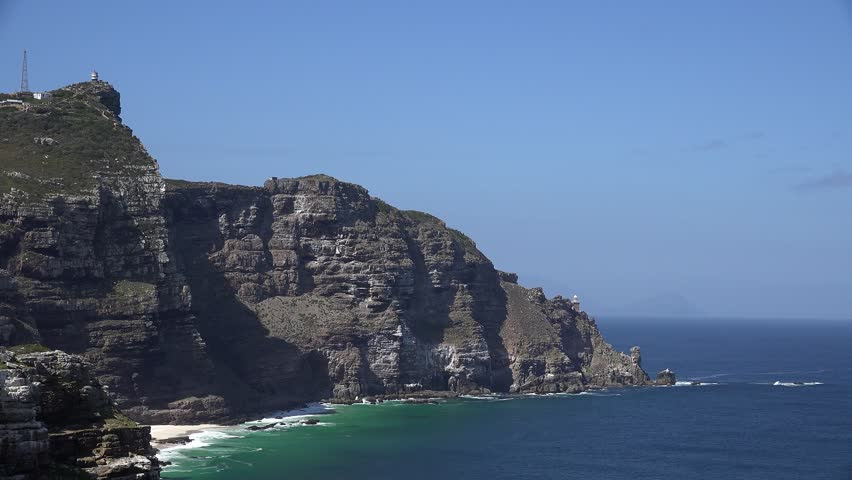 The famous Cape Point (South Africa) 4K footage - 4K stock footage clip