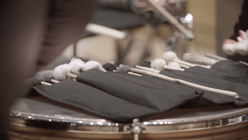 Set of drumstick from classical orchestra drummer.