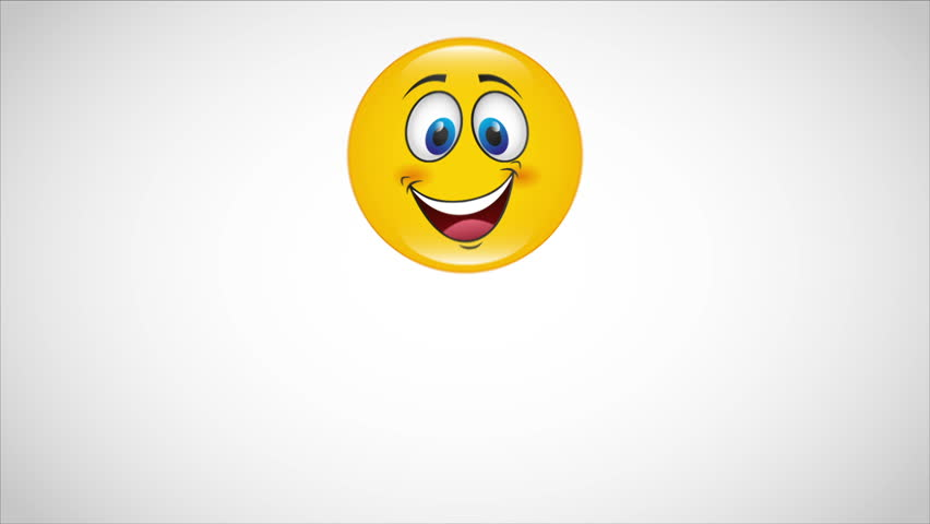 Yellow happy face Video animation, HD 1080
